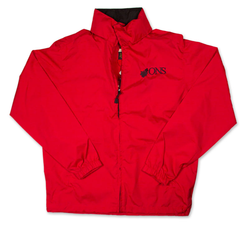 Jacket With ONS Logo - Molten Red