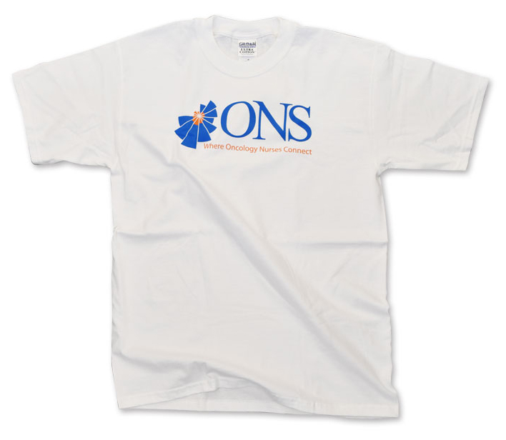 T-Shirt With ONS Logo - White