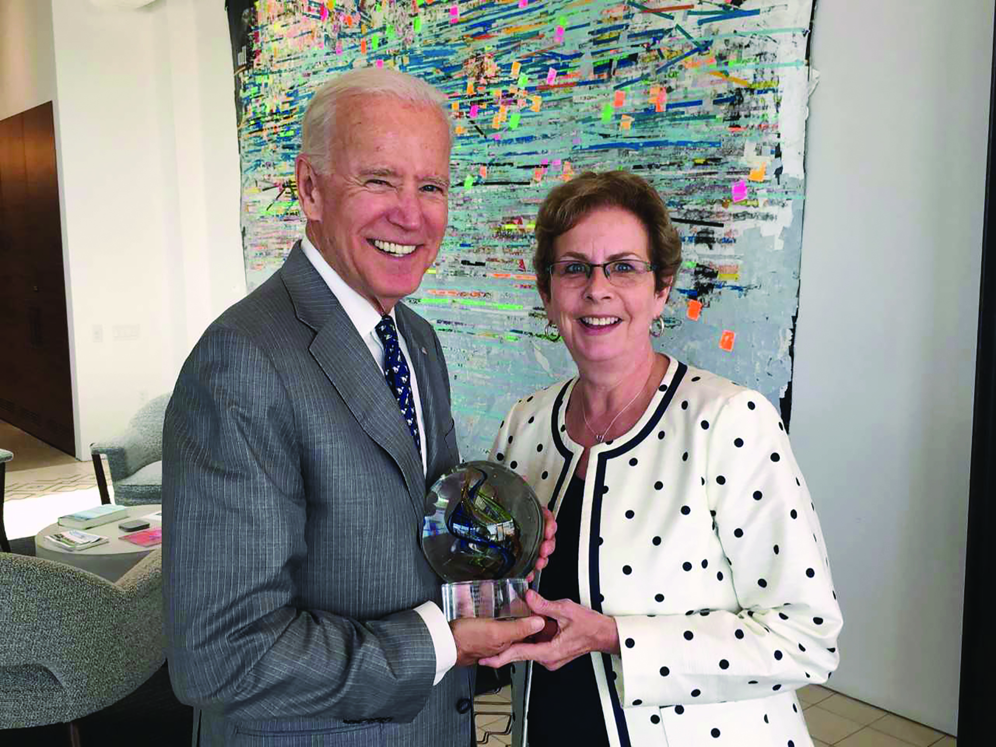 Former Vice President Joe Biden and Past ONS President Susan Schneider